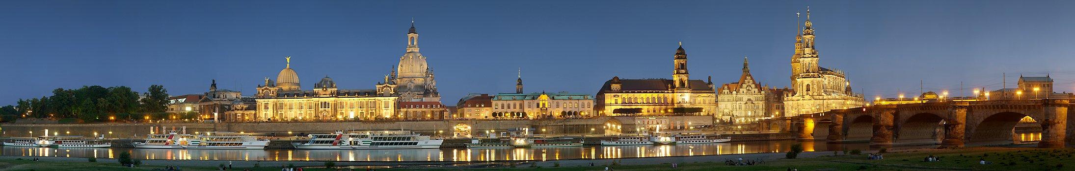 Bruhlsche Terrasse Am Abend 100 Blick Dresden Stadtpanorama