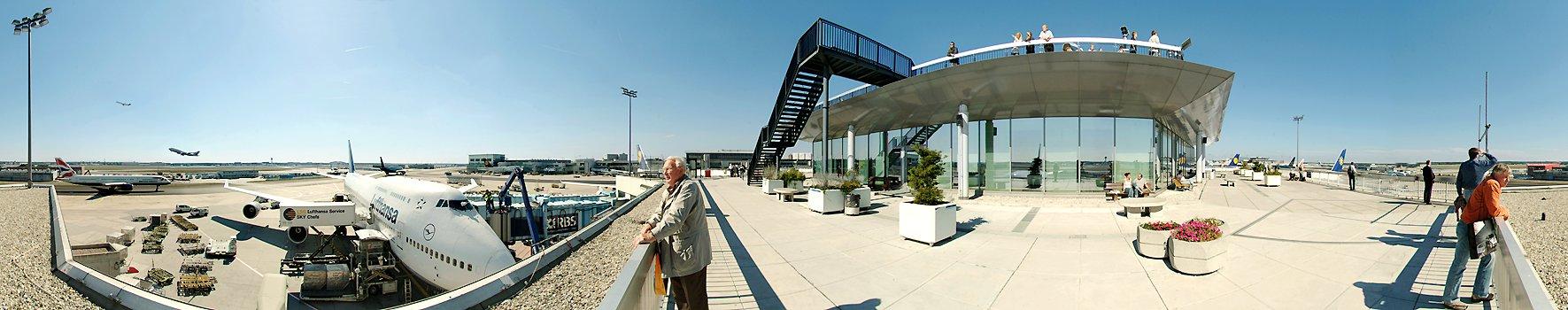 Besucherterrasse Flughafen Frankfurt Stadtpanorama