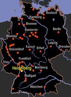 heidelberg map germany