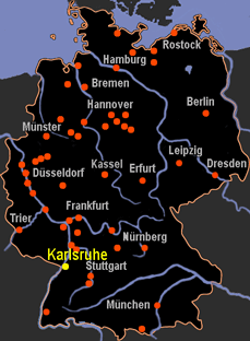 Karlsruhe Map Of Germany.Map Karlsruhe Germany