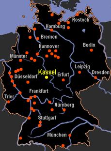 Map Kassel Germany